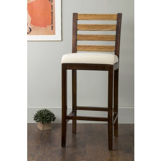 East At Main's Ames Brown Square Rattan Barstool