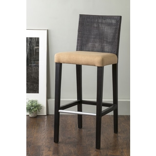 East At Main's Bangor Black Square Rattan Barstool