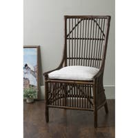 East At Main's Worthington Brown Square Rattan Dining Chair