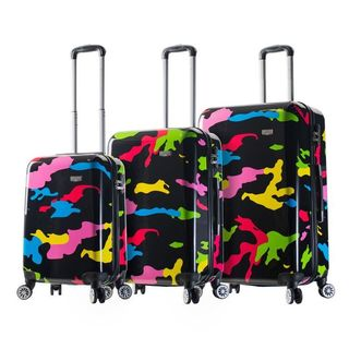 Mia Viaggi Italy Pop Camo 3-piece Hardside Spinner Luggage Set