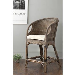 East At Main's Vold Brown Square Rattan Counterstool
