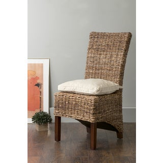 East At Main's Milford Brown Square Abaca Dining Chair