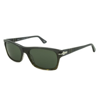Persol Sunglasses - PO3037 / Frame: Crystal Gray to Green Fade Lens: Green (54mm)