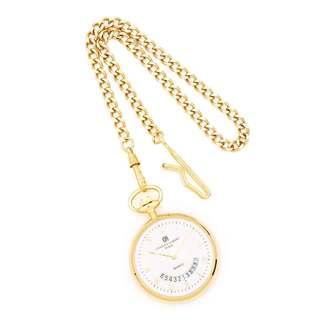 Charles Hubert Gold Finish Men's White Dial Gold Pocket Watch