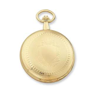 Charles Hubert Gold Finish Men's Skeleton Dial Pocket Watch