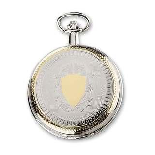 Charles Hubert Gold Finish Men's Brass 2-tone Skeleton Dial Pocket Watch