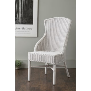 East At Main's Hurley White Square Rattan Side Chair