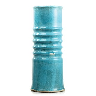 Sienna Blue Clay Small Vase