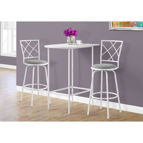 White Top Metal 24-inch x 36-inch Space Saver Bar Table