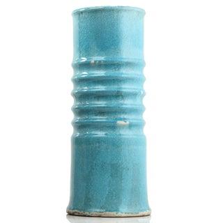 Sienna Blue Clay Large Vase