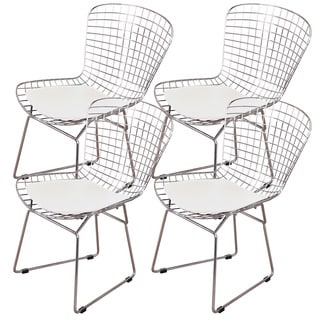 MLF Harry Bertoia Wire 4-piece Dining Chair Set