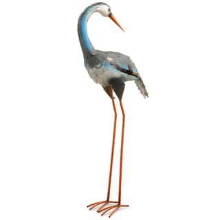 National Tree Company Garden Accents Blue Metal Crane Statue (39 in.) https://ak1.ostkcdn.com/images/products/14030961/P20649347.jpg?impolicy=medium