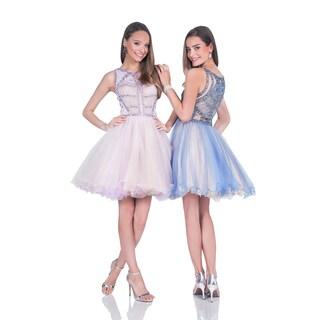Terani Couture Women's Mesh Short Party/Prom Dress