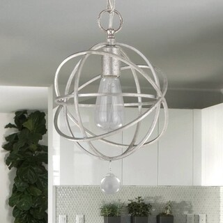 1-light Olde Silver Pendant/Semi Flush Mount