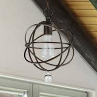 1-light English Bronze Pendant/Semi Flush Mount