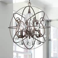 5-light English Bronze/Crystal Chandelier