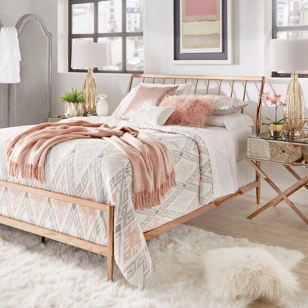Lincoln Copper Finish Metal Bed by iNSPIRE Q Bold Free Shipping