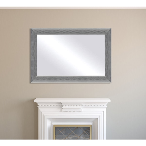Oversized Framed Mirror - Silver