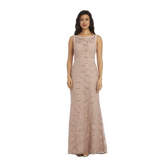 1224 Nightway Long Lace Dress
