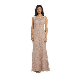 1224 Nightway Long Lace Dress