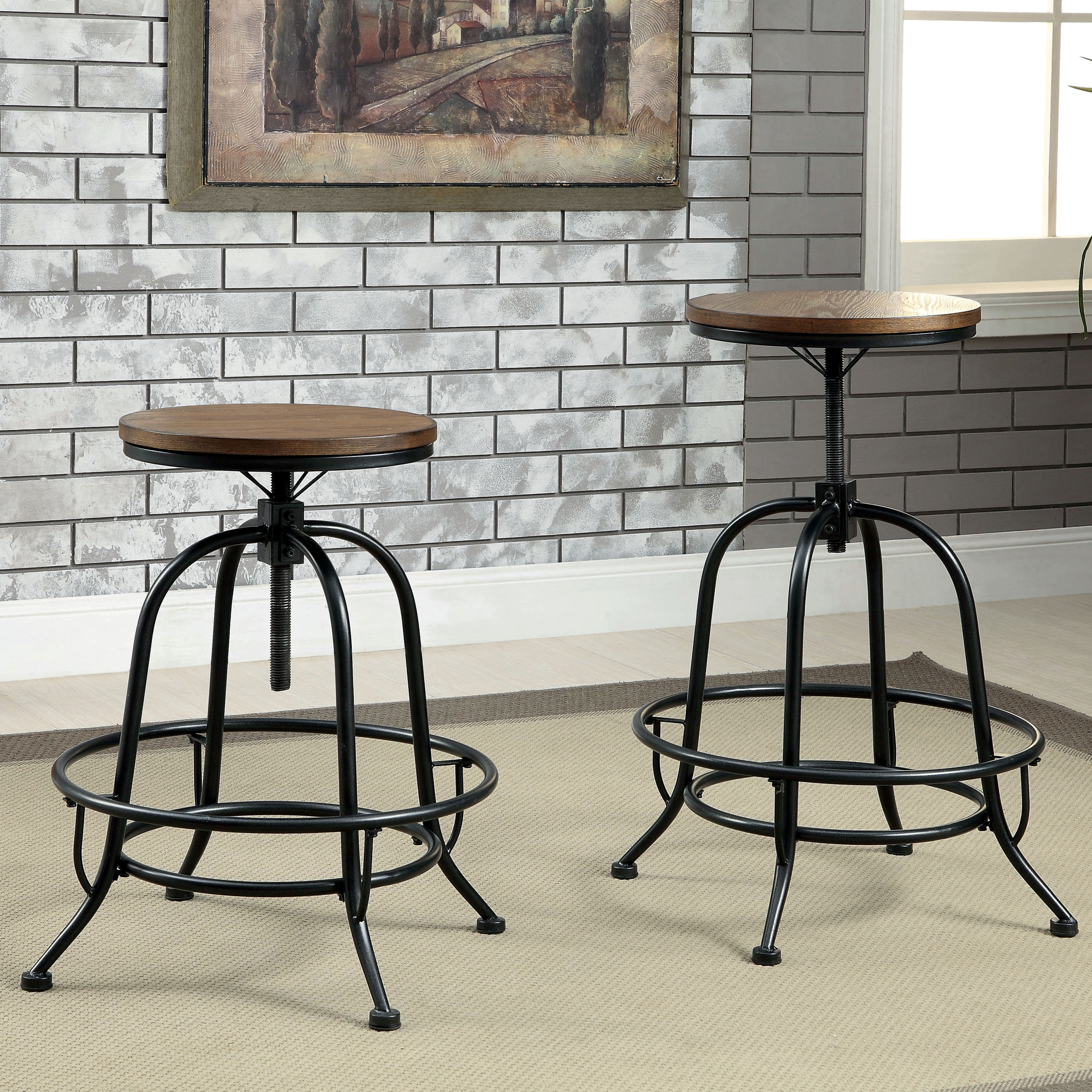 Shop Furniture Of America Daimon Industrial Height