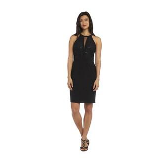 1224 Nightway Black Lace Dress
