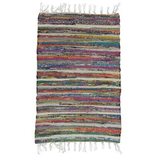 Shop Rainbow Multi Chindi 20 Quot X32 Quot Rag Bath Rug Free