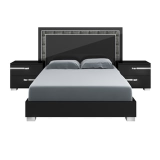 Modern Life Payton High Gloss Black Queen Bed