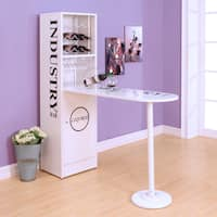 Acme Furniture Metal Counter-height Table with Cabinet