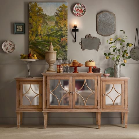 "Madison Park Signature Marie Light Natural Buffet - 68""w x 18""d x 33""h"