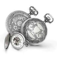 Charles Hubert Antiqued Men's Unicorn Shield Pocket Watch