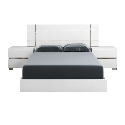 Modern Life Zoe White Laquer Standard King Platform Bed