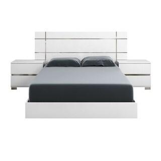 Modern Life Zoe White Laquer Standard King Platform Bed