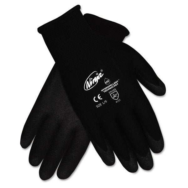 Memphis Ninja HPT PVC coated Nylon Gloves Large Black Pair