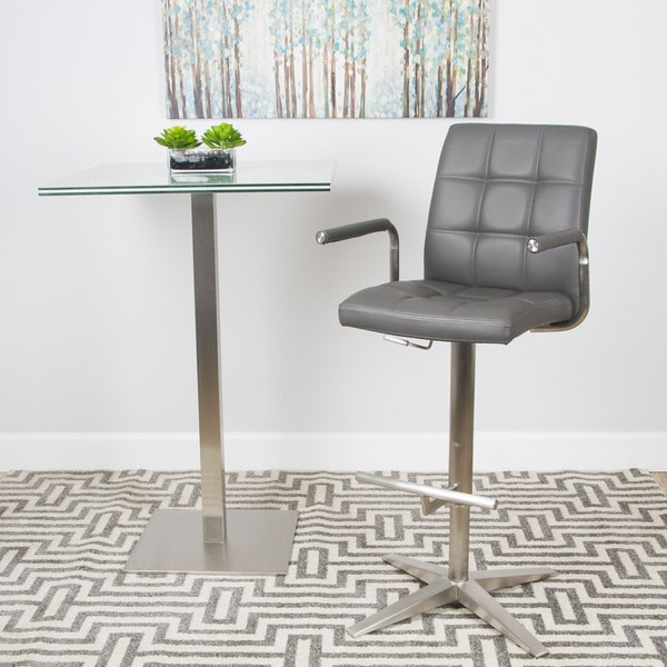 Brushed Stainless Steel X Base Checkered Pattern