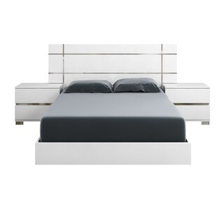 Modern Life 'Zoe' High-Gloss White Lacquer Cali King Bed