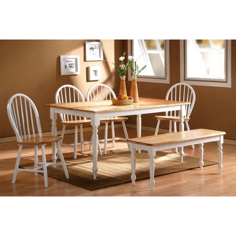 Boraam Farmhouse Collection 6-piece Dining Bench Kitchen and Dining Set