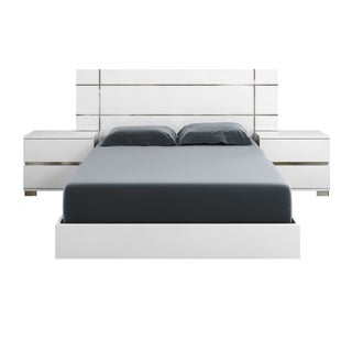 Modern Life Zoe White High Gloss Queen Bed