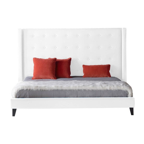 Modern Life Madison White Standard King-size Bed