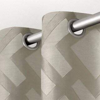 ATI Home Easton Blackout Geometric Jacquard Linen Curtain Panel Pair