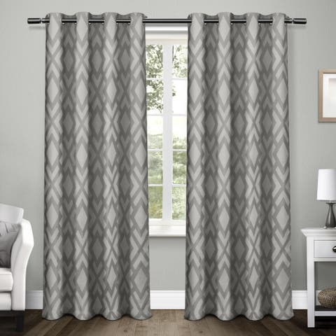 ATI Home Easton Thermal Woven Blackout Grommet Top Curtain Panel Pair