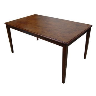 Boraam Shaker Collection Brown Wood Rustic Dining Table