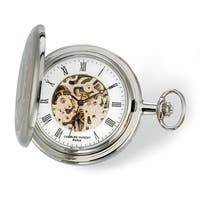 Charles Hubert 2-tone Rose Finish Men's 17Jewel Brass Pocket Watch
