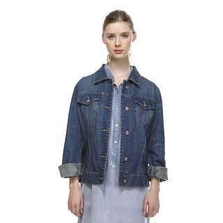 Women's Denim Button-up Jacket