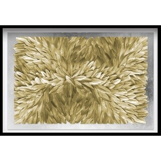 Oliver Gal 'Feather Angles Gold and Silver' Framed Art - 45 x 30