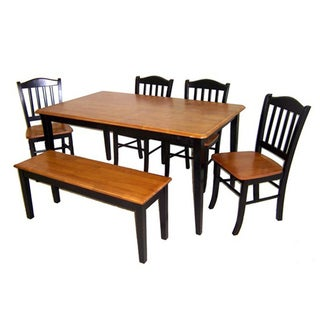 Boraam Shaker Collection 6-piece Bench Dining Collection