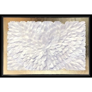 Oliver Gal 'Feather Angles Gold' Framed Art