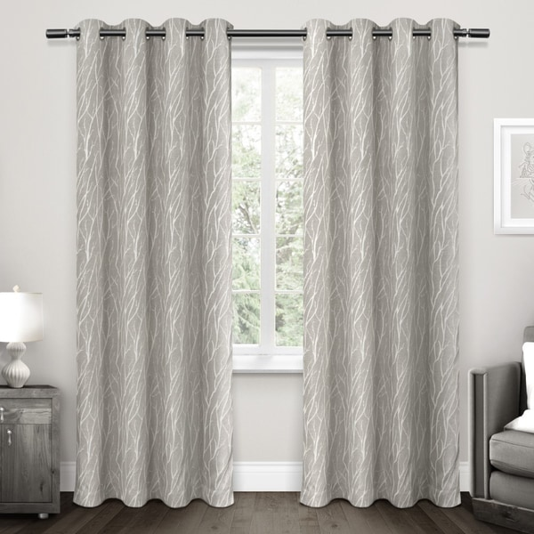 Polyester Curtain Panels : Ati home forest hill blackout woven polyester curtain