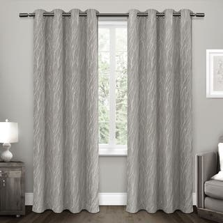 blackout bedroom curtains. ATI Home Forest Hill Blackout Woven Polyester Curtain Panel Pair Curtains  Drapes For Less Overstock com