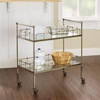 Fitz Antique Gold 2-tier Rectangular Serving Cart by Silverwood